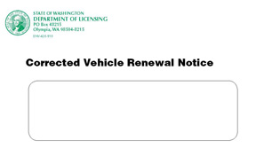 corrected notice envelope