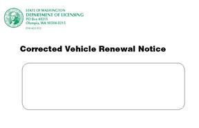 corrected notice envelope