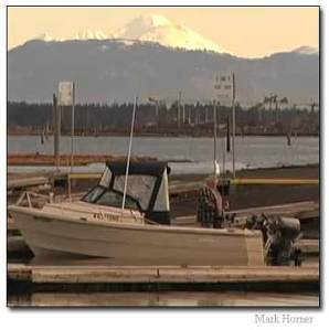 Everett Marina with Mt. Baker