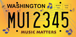 Music Matters license plate