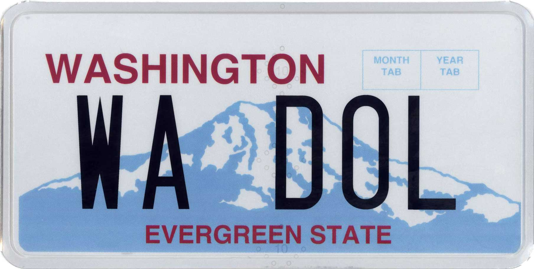 Wa Dol New Car Temporary License Plate