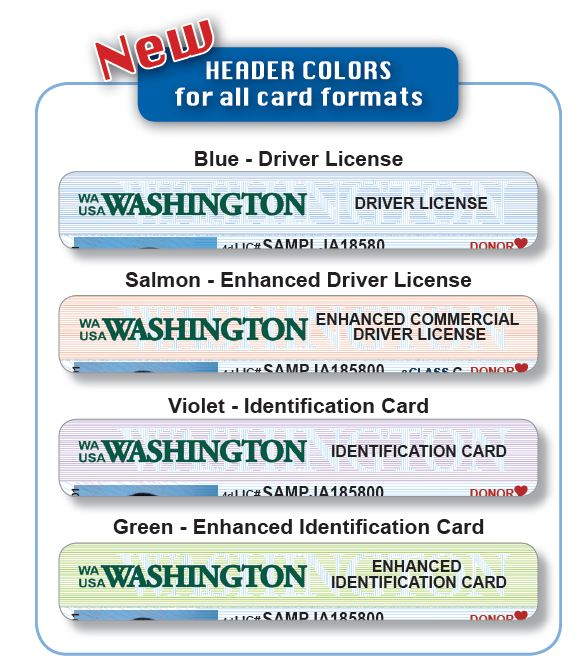 Washington Cards New License Licensing Express And Driver Id