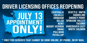 Offices reopening July 13