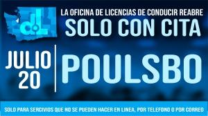 La oficina de licencias de conducir de Poulsbo reabrirá el 20 de julio solo con cita previa